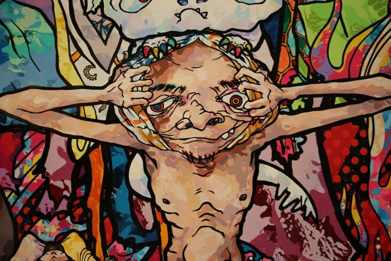 Takashi Murakami exhibit at the Gagosian Gallery in Chelsea.
