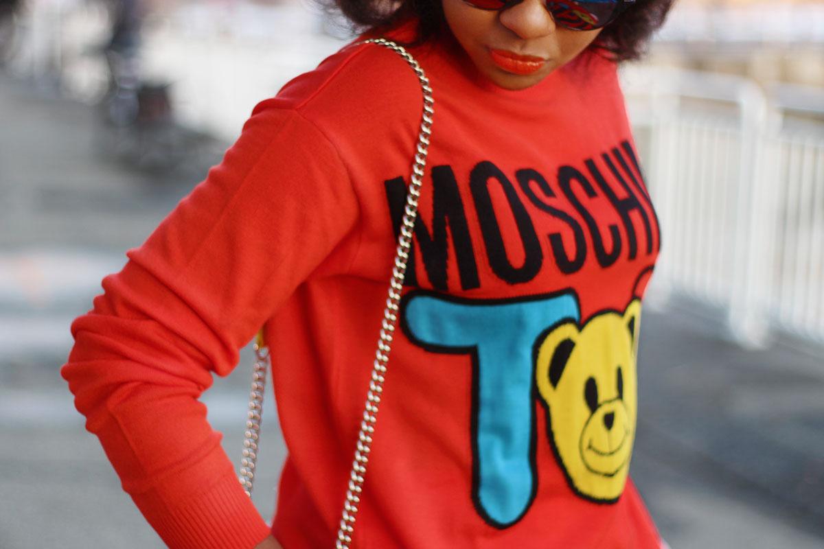 Moschino toy sweater blogged by Liz Lizo