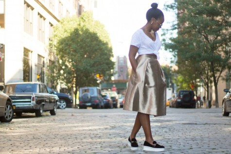 A Midi Skirt to Usher us Into Fall