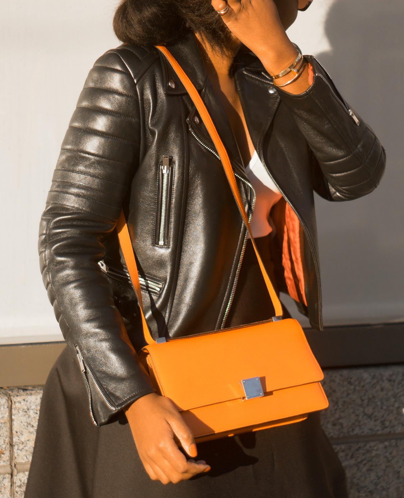 Orange celine bag